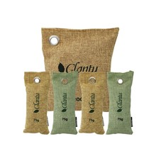 5pack Natural bamboo OEM private label activated charcoal air fresh purifier charcoal deodorizer bag