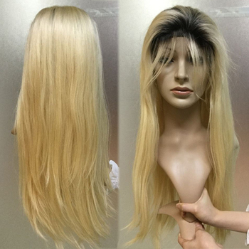 Cheap Virgin Ombre Colored Human Hair Double Drawn Lace Wigs Extension Online
