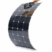 China Factory 120 watt thin film pv module Solar Panel flexible for Boat/marine