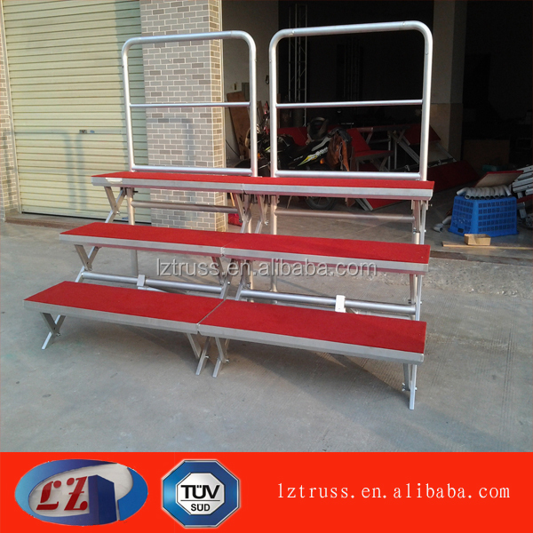 used stage rof sale portable stage aluminum folding risers