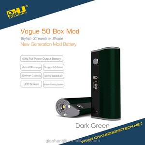 2016 new E cig product Amigo Vogue 50 best mox mod 20-100W USB charge support rebuildable atomizer china exporter