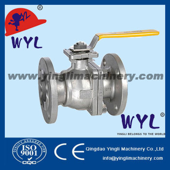 "BALL-VALVE-3-PIECE-FLANGED 1"" DIN2999 CF8M"