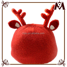 2016 new trend fashion red deer wool knitted baby christmas hat