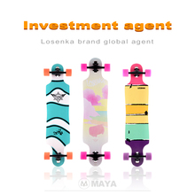 < Agent Wanted> LosenKa MS411 8PLY maple dancing longboard completed wholesale skateboard