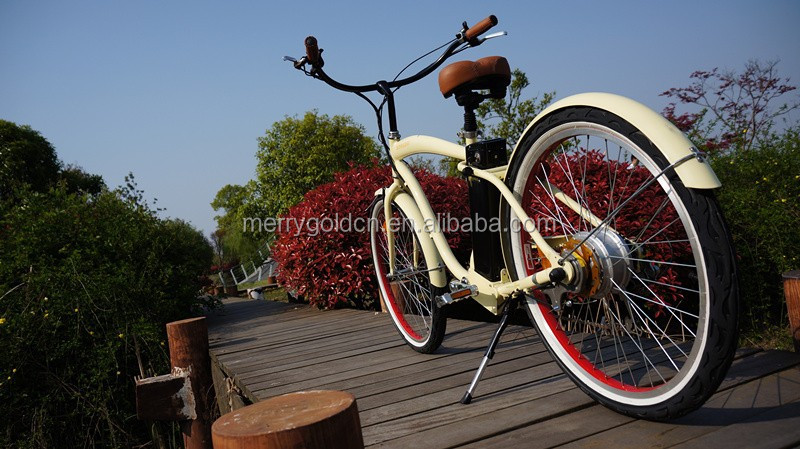 importer cheap 250 watts male frame electric beach cruiser bicycle for sale