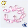 pink marquise eye shape healing crystals, synthetic crystal flat bottom glass gems