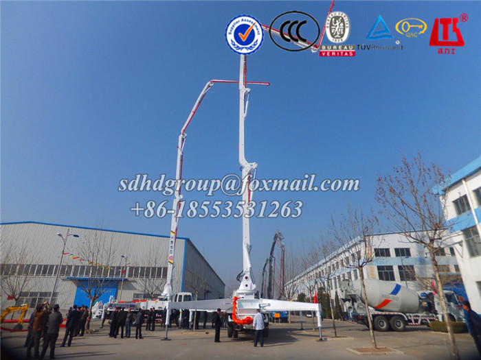 52m cement boom pump truck with good performance