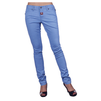 2016 dresses for women very well stretch pure color embroidered jeans skinny women popular in USA market