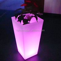 LED bonsai pot/ Led Lighting planter pots/christmas decor for home garden