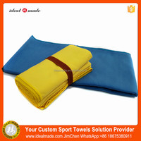 Eco-Friendly Suede Microfiber Logo Custom Compressed Towel With Bag