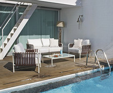 Aluminium garden wicker rattan furniture
