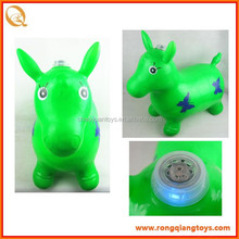 2014 funny inflatable jumping animals toys with music and light