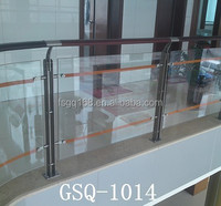 frameless tempered glass deck railing