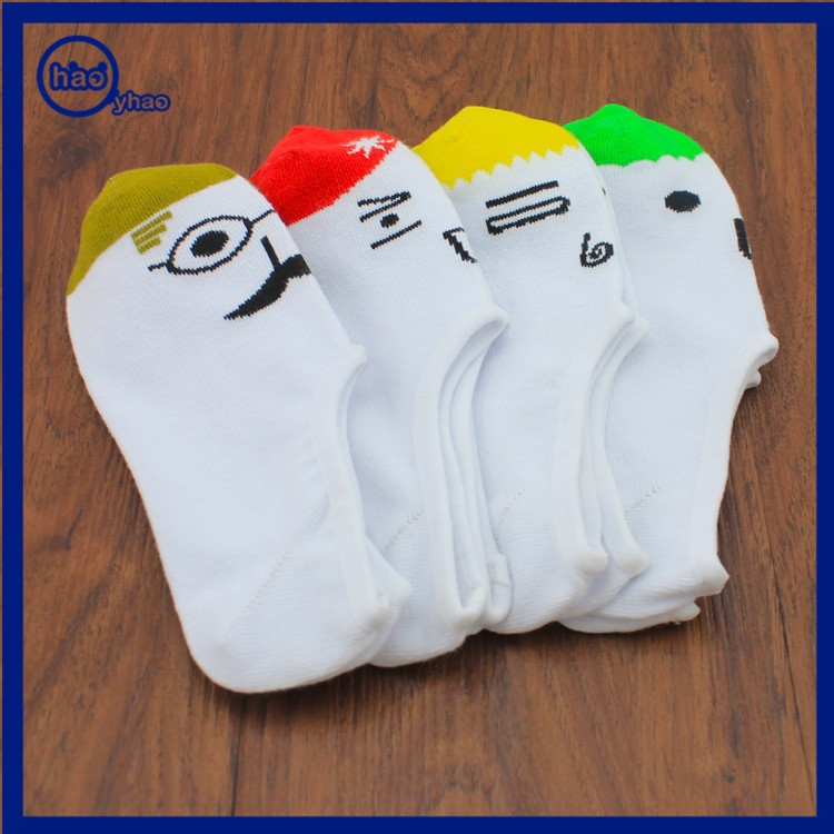 Yhao Brand Cute Emoji Socks Crew Cotton Ankle Socks Face Emotion Socks