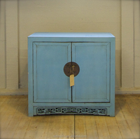Asian antique two door wooden shoe cabinet