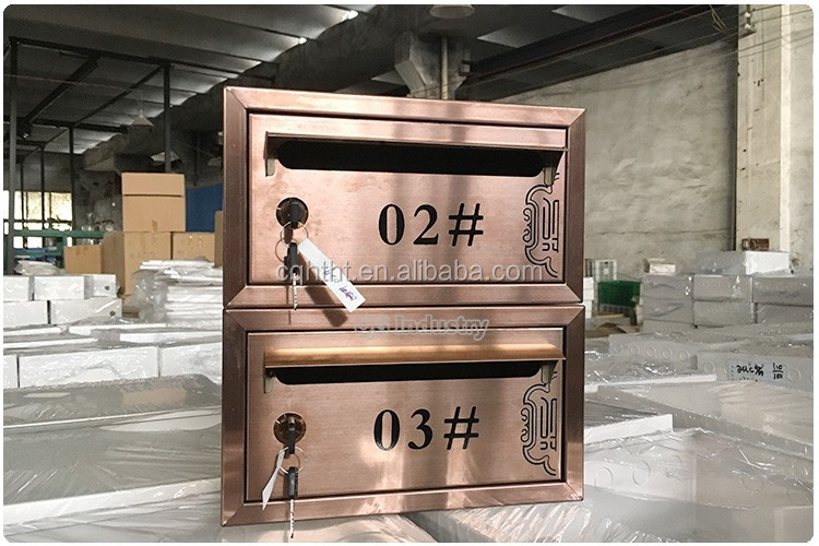 Commercial combined stainless steel mailbox