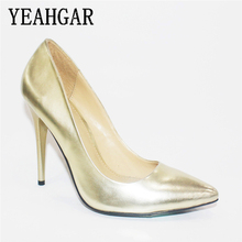 Fashion Model Thin Pearlied Gold Womens High Heel Shoes