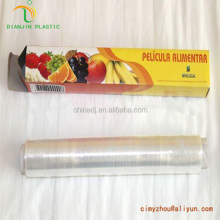 Clear shrink fresh wrap packaging pe cling film for vegetables Clear shrink fresh wrap packaging pvc cling film for vegetables