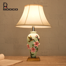 ROOGO 2017 hotel decoration project vintage vase cheap table lamps