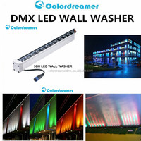 Aluminium SMD5050 1000mm LED outdoor dmx wall washer IP67 30W RGBW linear wall washer