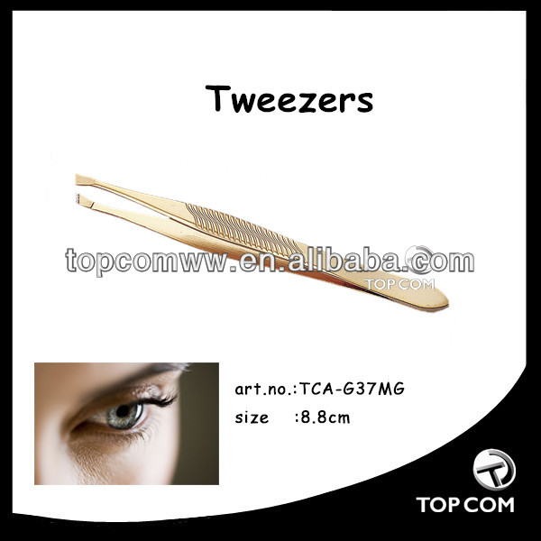 gold-plated kid tweezers