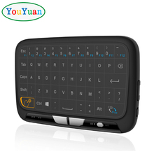 H18 2.4GHz Wireless Whole Panel Touchpad and Mini Keyboard Handheld Remote with Touchpad Mouse for Android TV Box PC Gamepad