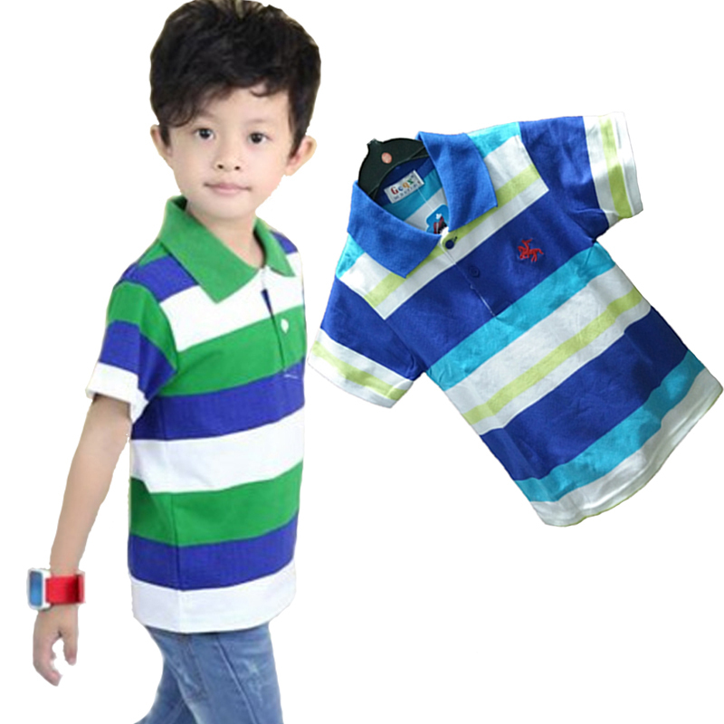 Hot sale! Children kids clothing boys polo shirt short sleeve shirt striped polo shirt boys summer style baby shirt 2-10 years