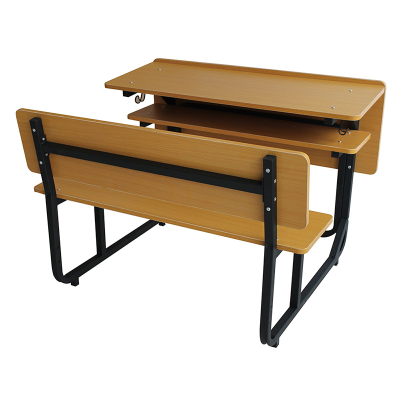 L.Doctor brand Seamless school table and bench with top wooden