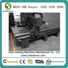 ATC in line type CNC router center supplier,tool changer capacity is 8 pieces