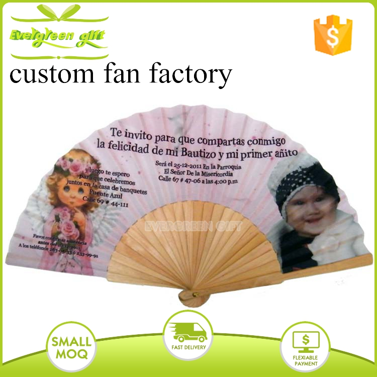 Very cheap gifts items promotional wedding invitation hand fans