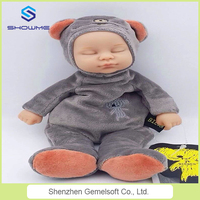 Direct selling authorized cute bear and rabbit bieber toy cheap lovely baby doll