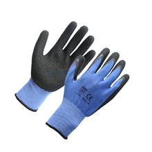 latex rubber coated safety working hand gloves