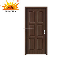 Interior frosted glass closet pvc doors