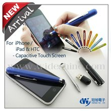 3 in 1 Stylus pen and ballpoint for smartphone , best touch pen with rubber