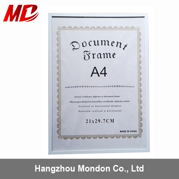 A4 Certificate Photo Picture Aluminium Snap Frame,Poster Display Frame,Aluminum Clip Frame
