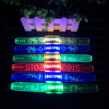 Light-Up ABC Bracelets Wristbands LED Flashing Rave Multicolor Party Accessory