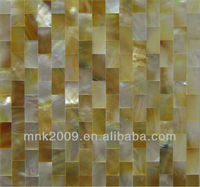 Seamless river shell mosaic/dew design high class mesh backing natural color shell mosaic tile