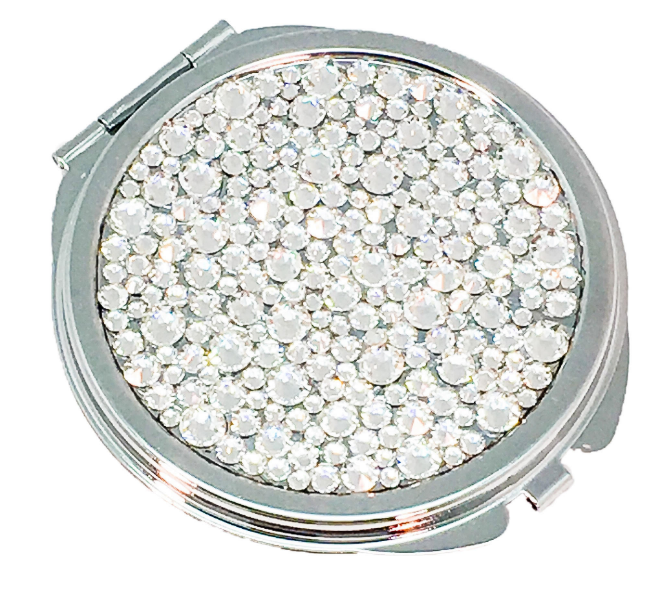 Rhinestone Crystal Compact Double Sided Mirror Bling Compact Mirror