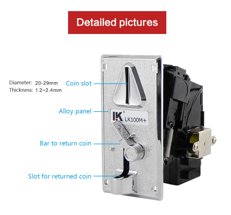 LK100M+ Philippines Coin acceptor for arcade game toys machine
