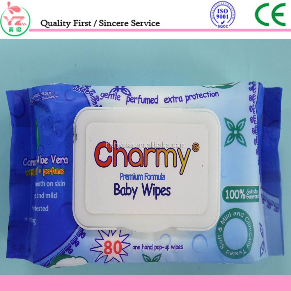 cleaning use private label baby wipes with plastic lid/wholesale OEM spunlace baby wet tissue with cover china supplier