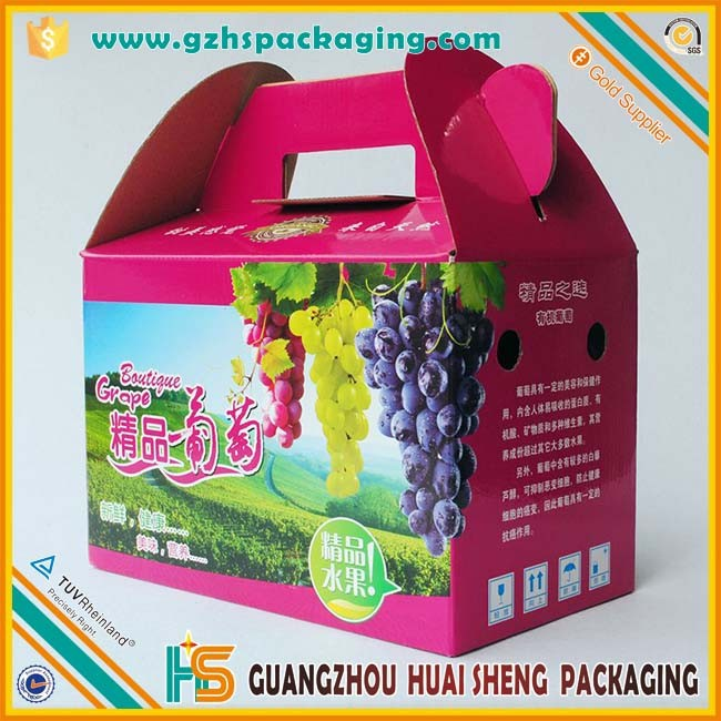 Customized Environmental Waterproof Fruit Cardboard Boxes For Sale