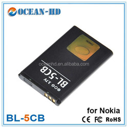 bl-5cb battery replacement for nokia 107 108 2730c N72 N91 8G 100 1108 1110 1112 1116 1200 1208 1255 1681C 1600 1650