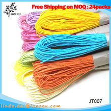 10m Length 15 pcs DIY Home Decoration 100% Natural Colored Craft Jute Rope for sale