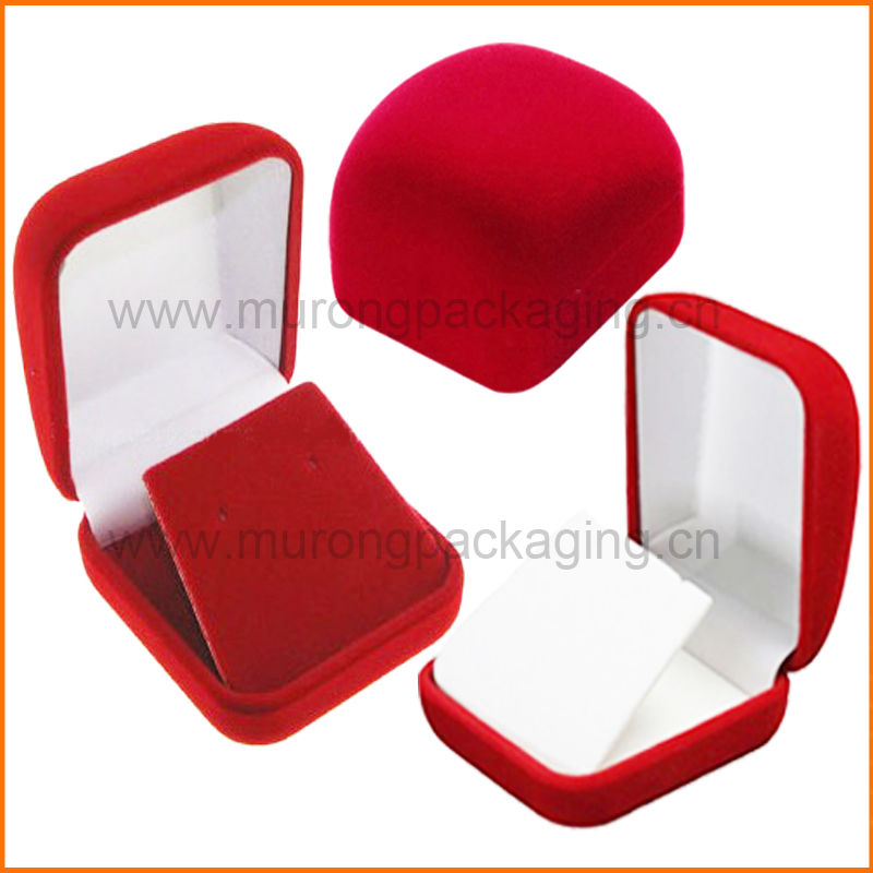 Red velvet jewelry earring box