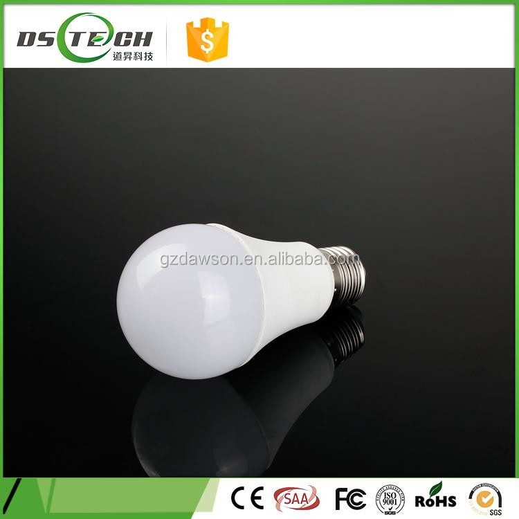 Aluminum pc cover lower cost e27 A60 12w led bulb lamp for home/office/underground/warehouse