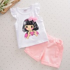 Bulk wholesale kids clothing set cute baby girl summer clothes elegant fashion children girls boutique clothing sets