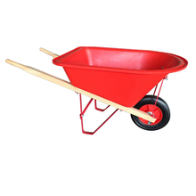 Children Plastic tray wooden wheelbarrow toy for kids