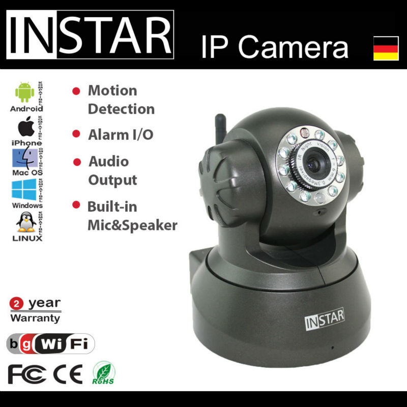 Infrared Light Night Vision Wireless indoor IP Camera