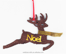 Wholesale new products christmas tree home artificial decoration hang deer with plate