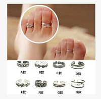 vintage unique design antique silver alloy metal finger toe ring